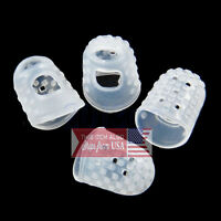 4 Pcs Guitar Bass Silicone Finger Picks Protector Plectrum Guitar Anti-Slip