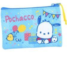 Sanrio Flat Zip Pouch Cash Card Wallet Coin Purse Mini Makeup Bag Multipurpose