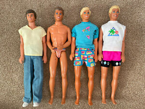 Vintage Ken Dolls Bundle (4x)