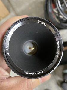 Near Mint! Vivitar 55mm f2.8 Macro Lens for Nikon F mount