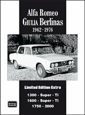 Alfa Romeo Giulia Berlina Limited Edition Extra New Paperback Book R.M. Clarke