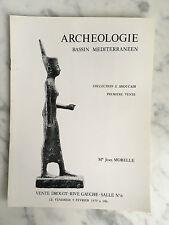 Catalogue de vente Archéologie Bassin Méditerranéen Me Jean Morelle 1979