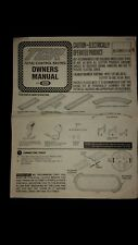 1977 Ideal Tcr Slot Car Owners manual original dated 1977