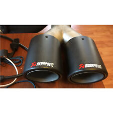 1X Twin Exhaust Tips Car Akrapovic Carbon Fiber Exhaust Muffler Pipe 63mm Inlet