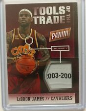 "'13-14 PANINI LEBRON JAMES ROOKIE ""2003-04"" NBA LOGO LAUNDRY TAG PATCH #'d 1/1"