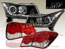 11-14 Chevy Cruze Dual Halo Projector R8 LED Headlights & LED Tail Lights