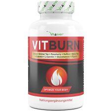 VITBURN + Appetitzügler + Stoffwechsel + Fatburner +  Glucomannan + Grüntee Diät