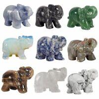 Elephant Figurine Natural Stone Figurines Mini Healing Statue Crystal Chakra Kit