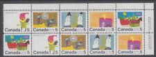 Canada #523a 5¢ Christmas Children's Designs UR Plate Block MNH