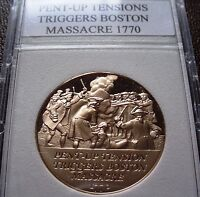 American Revolution Proof Medal 6: Boston Massacre - March 5, 1770