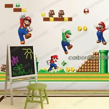 SUPER MARIO Bros Wall Sticker Children Kids Game Boys Playroom Bedroom Decor