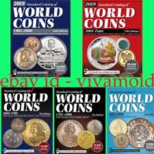 2019 KRAUSE 5pcs set Standard Catalogs of World Coins 1601-2018 Digital Books