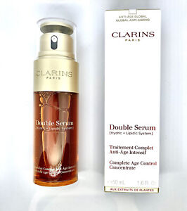 100% GENUINE CLARINS Double Serum Age Control Concentrate 50ml. FREE P&P
