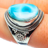 Larimar 925 Sterling Silver Ring Size 8.5 Ana Co Jewelry R32380
