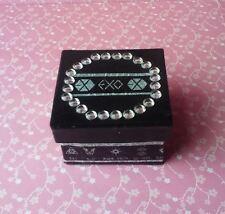 Handmade EXO Kpop Black Paper Mache Trinket Jewelry Gift Box w/ Rhinestones