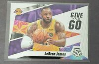 2019-20 Panini Prizm Mosaic Lebron James Give and Go INSERT #8 SP Lakers NEW