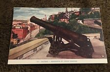 Vintage Postcard Unposted Remparts Et Vieux Canons Quebec Canada
