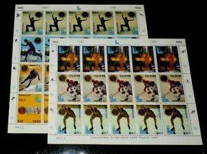 PARAGUAY #1985a-g, WINTER OLYMPICS 1980, SET/2 SHEETS, MNH, NICE! LQQK!