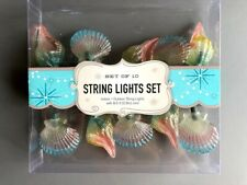 Shell String Lights Indoor Outdoor Set of 10 Lights 8.5' Nautical Beach House