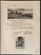 1926 - Lithographie citation de Ben Ghabrit (Maroc Guerre 14-18)