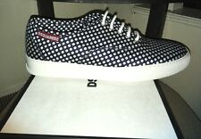 $545.00 Men's DSQUARED2 Pollack Navy Lace Up Polka Dot  Sneaker Size 9 IT 42