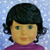 Monique JESSICA Black Full Adj. Cap Doll Wig Size 10-11 fits American Girl +++