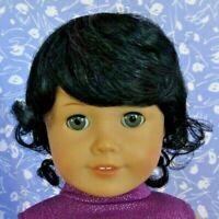 Monique JESSICA Black Full Adj. Cap Doll Wig Size 10-11 fits American Girl +++