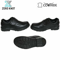 Black Dotted Original Leather Cow Hide Skin School Shoe For Girls Children Women