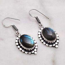 "Jewelry 1.48"" Ae 50562 Labradorite Handmade Drop Dangle Earrings"