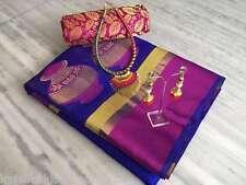 Kajal Fashion Kreationz Cotton Silk Matka Saree With Necklace Set