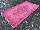 Vintage rug, Overdyed, Handmade rug, Area rug, Wool rug Bohemian   3,7 x 6,7 ft