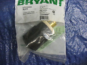 New Bryant 71020NP Locking Plug 20A 125/250V NEMA L10-20 3P 3W