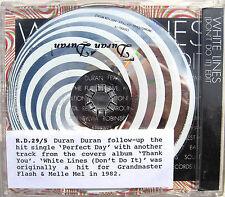 DURAN DURAN CD White Lines UK DJ PROMO Rare UK not Export version + Pro STICKER