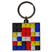 Brick Toy PVC Keyring. Retro Gift Idea Novelty Funky Present for Lego Fan