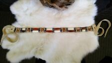 Native American Bone Choker Picture Jasper Hematite Stones Copper Beads Cherokee