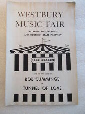 1962 WESTBURY MUSIC FAIR PLAYBILL PROGRAM Tunnel of Love Bob Cummings