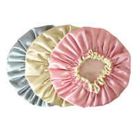 Women Shower Satin Bathing Cap Hat Silk Reusable Waterproof Hair Cover