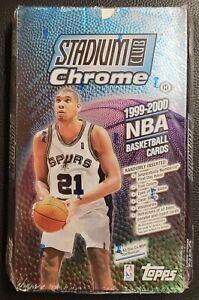1999-2000 Topps Stadium Club Chrome Basketball NBA Factory Sealed Hobby Pack