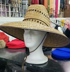 Lifeguard Palm Straw Sun Hat Extra Wide Brim !4 Different Styles! Sombrero