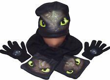Dragons **Ohnezahn/Toothless **3er Set (Mütze/Schal/Handschuhe) Lizenzware NEU