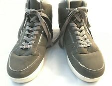 US Polo Assn Mens Size 10 217354S06 Grey Hi Top Lace Up Hipster Shoes USPA