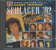 V/A - Schlager Festival '92 (VOLUME 1) CD Album 22TR (ARCADE) Nicole Andy Borg
