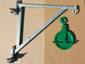Gerüstarm + Umlenkrolle 150mm Seilzug Flaschenzug Gerüst , Bauaufzug-Konsole