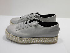 NEW! CIRCUS by Sam Edelman  Metallic Silver Laced Canvas Shoes...9 M / 40 EUR