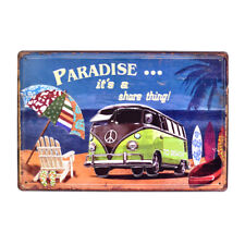 Vintage Metal Tin Signs Paradise is Share Poster Pub Bar Decor Art Wall Hanging
