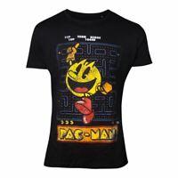 Pac Man T-Shirt Rétro Jeu Look Coton Mâle Noir Petit (TS030400PAC-S)