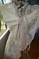 ** NWOT *** GORGEOUS LACEY COTTON SCARF *** LADIES *** NEW