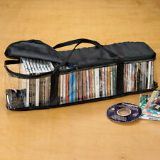 CD Disc Holder Holds 50 Storage Case Holds Organizer Zip Handles Bag ~