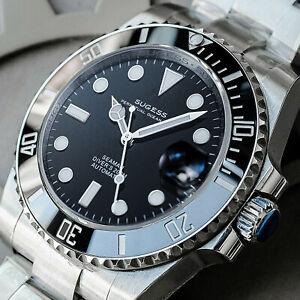 Sugess ISO-6425 Genuine Ceramic Bezel x 904L steel 200m DIVER'S Watch SU116610LN