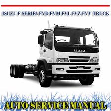 ISUZU F SERIES FVD FVM FVL FVZ FVY TRUCK WORKSHOP SERVICE REPAIR MANUAL ~ DVD